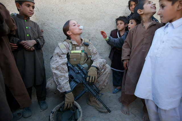 Adams in Afghanistan. (Paula Bronstein/Getty Images)