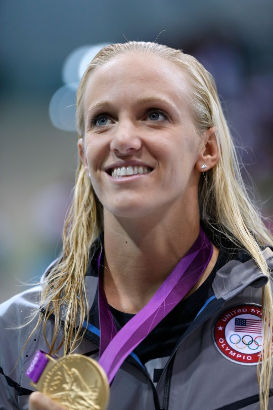 Richmond swimmer Dana Vollmer won three gold medals in the 2012 summer Olympics (Jamie Squire/Getty Images)