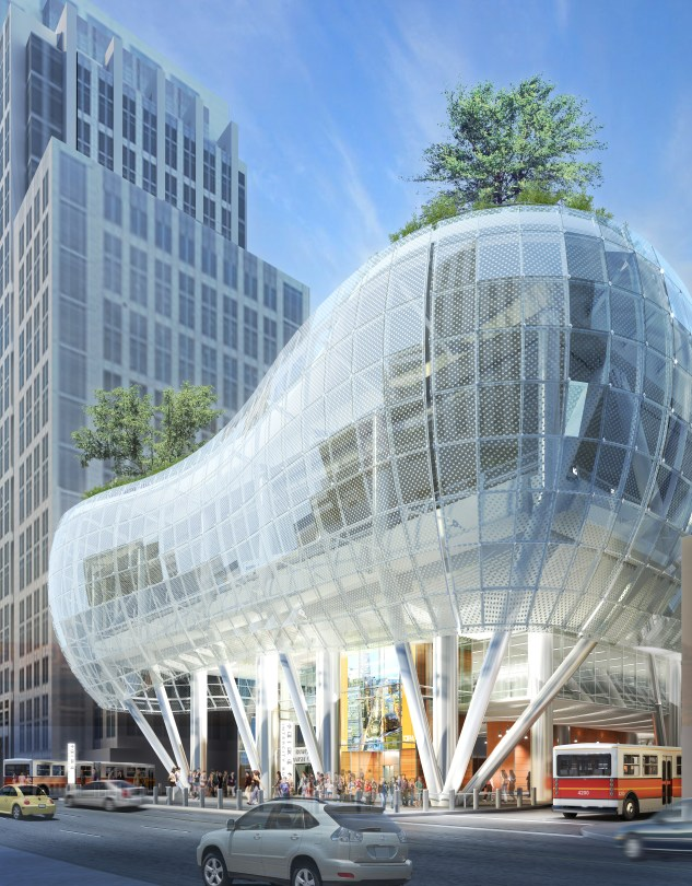 Transbay terminal with mesh
