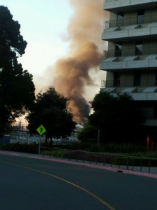 Diane McDermott of the California Highway Patrol tweeted warnings about the Aug. 6, 2012 fire at a Chevron refinery in Richmond.