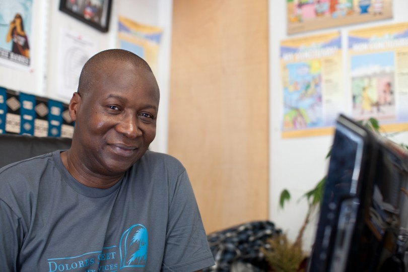 Adoubou Traore is the program director of the African Advocacy Network in San Francisco. (Deborah Svoboda/KQED)