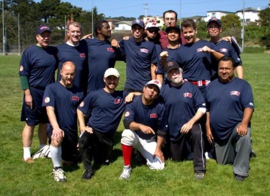 The Renegades team of the San Francisco Gay Softball League