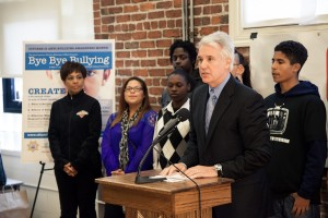 San Francisco DA George Gascon at a press conference on bullying. (Courtesy SF DA)