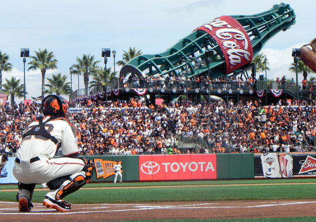 A Giants game on April 11, 2013.