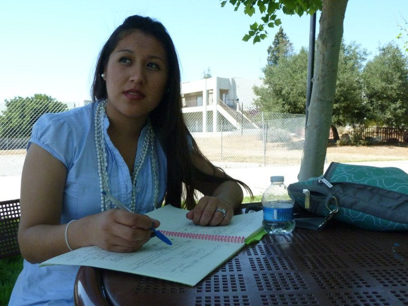 Bekki Zarco is taking summer courses at Evergreen Valley College in San Jose after struggling to get classes she needs during the regular school year. (Charla Bear/KQED)