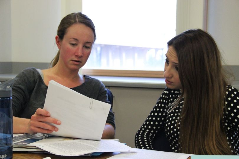Graduate students in the teacher preparation program at California State University, Northridge  (Jackie Mader / The Hechinger Report)