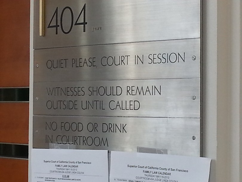 A family court in San Francisco (Aarti Shahani/KQED)