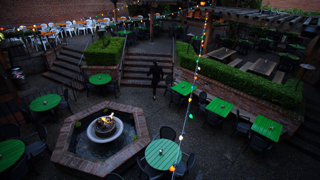 Jupiter, located in the middle of downtown Berkeley is well known for its outdoor patio. It's just one of the restaurants that makes this area a hot spot for patios. (professor evil/Flickr)
