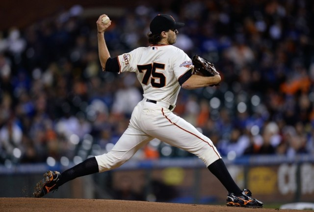 Barry Zito pitches for the Giants at AT&T Park in September.  (Thearon W. Henderson/Getty Images)