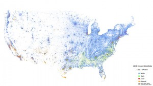 A zoomed out view of the United States reveals population density clearly.