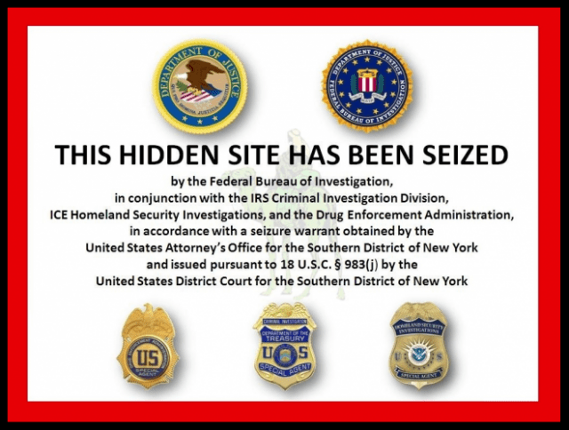 October 2013 law enforcement advisory that Silk Road marketplace has been shut down.