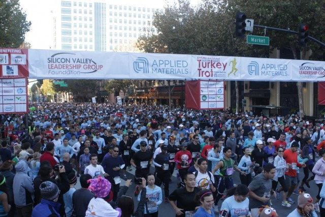Last year's Silicon Valley Turkey Trot (Colin Buckner/Silicon Valley Leadership Group).