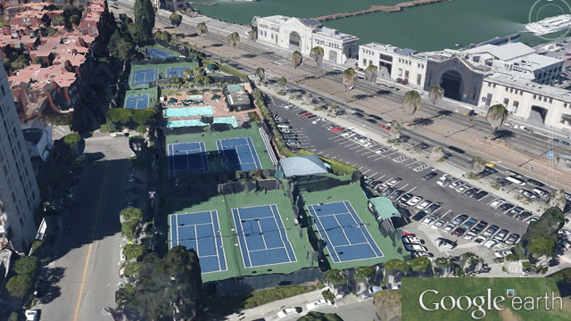 8 Washington Street is currently home to a private tennis and swimming club. (Google Earth)