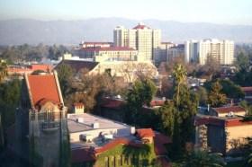 Aerial view of San Jose State University. (Steve McFarland/Flickr)