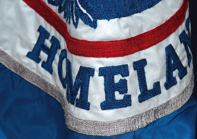 Detail of the Homeland Security flag. (Bill Koplitz/FEMA/Wikimedia Commons)