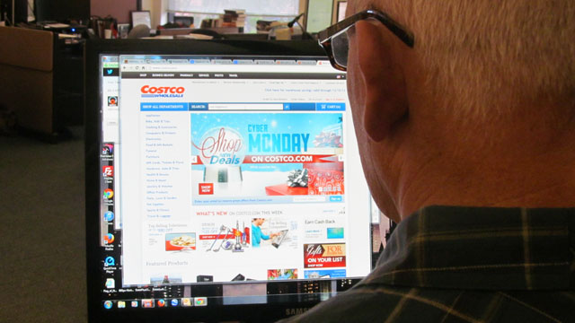 One survey says half of U.S. workers will be shopping online today. (Don Clyde/KQED)