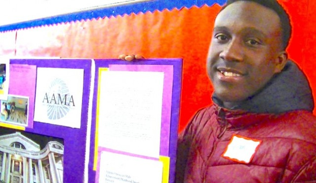 Sophmore Anthony Johnson says the African-American Male Achievement program has helped him become a better student, see a future for himself and control his anger. (Barbara Grady/Oakland Local)