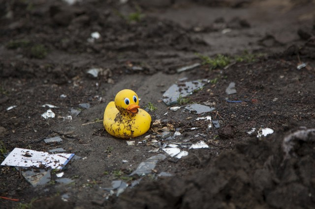 Personal possessions are spread throughout the Bulb as workers continue to clean the area. (Mark Andrew Boyer/KQED)