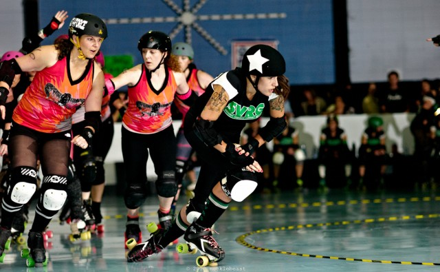 The Silicon Valley Rollergirls play BADG Berkeley Resistance. (Mark Nockleby/Flickr)