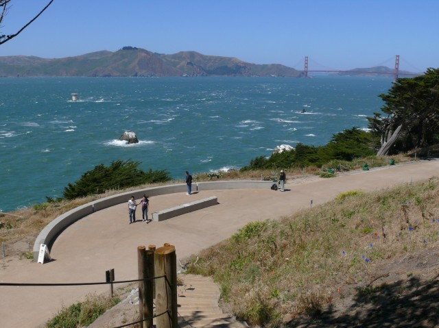 Find great views of the Golden Gate Bridge, Bay and Marin from the Lands End trail. (Ingrid Taylar/Flickr)