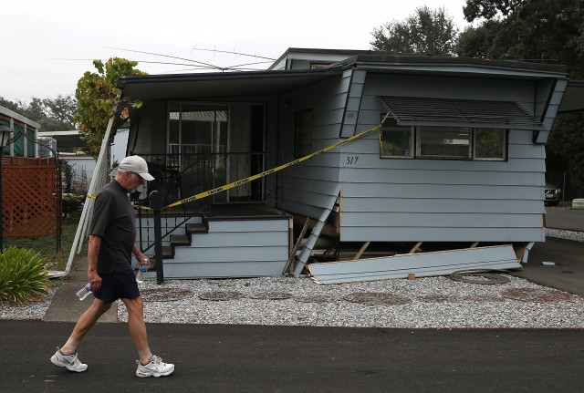 Many are reporting homes have shifted off their foundation. (Justin Sullivan/Getty Images)