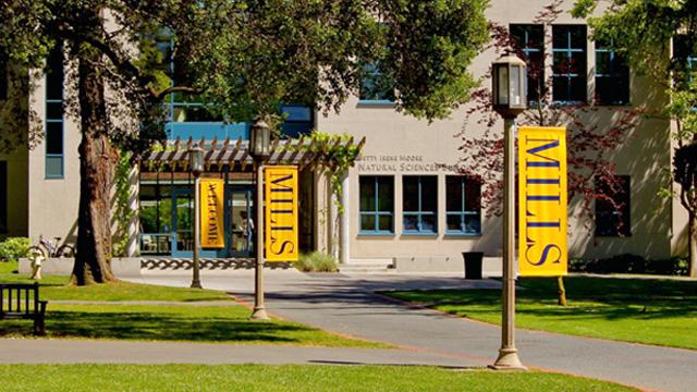 "The campus of Mills College in Oakland. (<a href=""https://www.flickr.com/photos/cronncc/5740450376/in/photolist-9KgiUm-6phKZp-6pnfpQ-2Q61hp-2QarHs-2Q61Bc-6phHDz-6pnscJ-6pi8x8-6pi6kV-9KggJU-6pnthY-6phJBK-6pnvof-6phNzX-6piHwk-56BZgb-6phD1F-8v1tV7-6piadn-82sX8E-6pmKi3-6piEGV-9Kdt5X-6pn5KW-6pi9m2-6pn7dm-6pnnW7-6pnzrL-6piebv-6picbx-8RCCZT-9KdwNP-7xu3Sb-eRqKJH-9evDio-9evDco-9evDFJ-9evDZJ-9evDA9-9evE4A-9esysF-9esyNZ-9evDPm-9eszFV-9eszpT-9evErC-9esyxx-9evDV3-9eszdZ"">Curtis Cronn/Flickr</a>)"