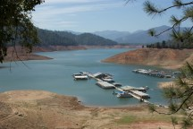 Shasta Lake's Bridge Bay Marina, just off of Interstate 5 north of Redding. September 2014.