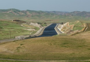 The California Aqueduct on the west side of the San Joaquin Valley north of Los Banos. March 2015.