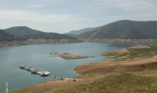 Pine Flat Lake, east of Fresno, is the state's 10th-largest reservoir and was just 19 percent full in early April 2015.