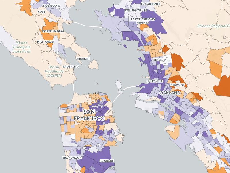A Map of Gentrification in the Bay Area