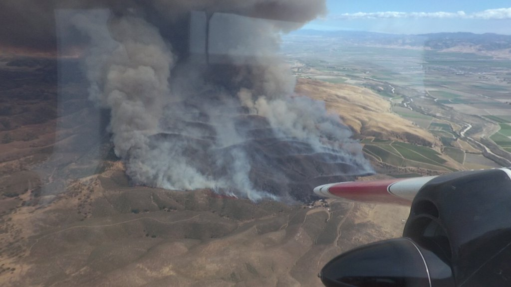 Firefighters Battle Fast-Moving Wildfire in Monterey County