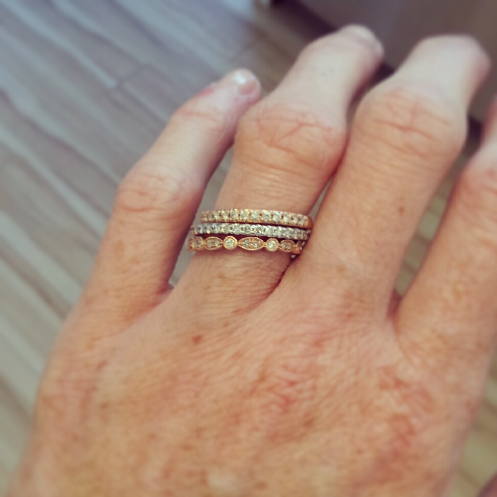 diamond wedding band only contour diamond wedding band I also like to wear stacked bands on my wedding finger but I ususally miss my e ring and change back to it and its soldered contour band