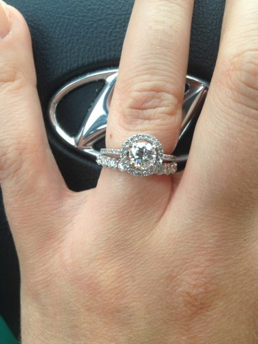 wedding band for a thin halo engagement ring wedding ring band I have a really thin band on my engagement ring also very similar to yours I choose a wedding band that was pretty much double the width to also protect