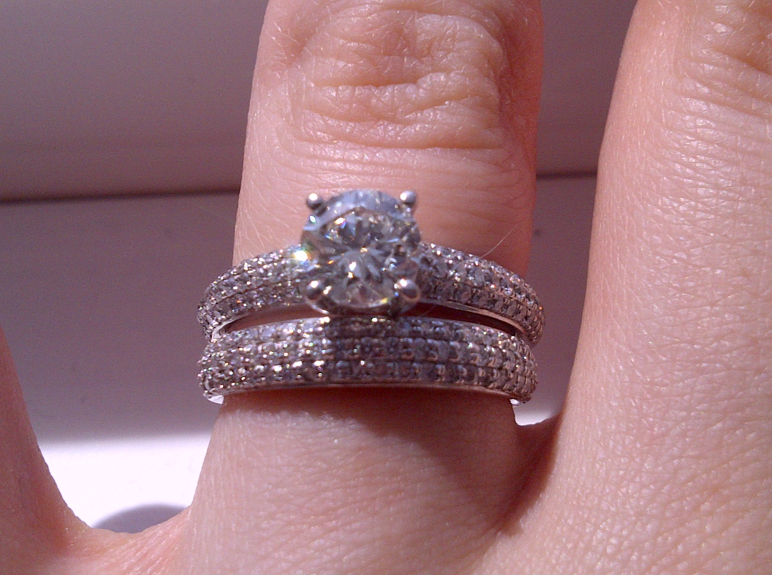 engagement ring wedding band which way to wear it show me your wedding set wedding set Engagement Ring Wedding Band Which way to wear it Show me your wedding set