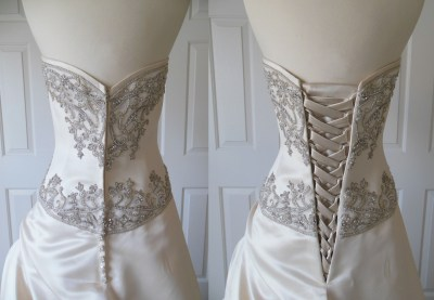 Has anyone replaces their zipper on wedding dress with a ...