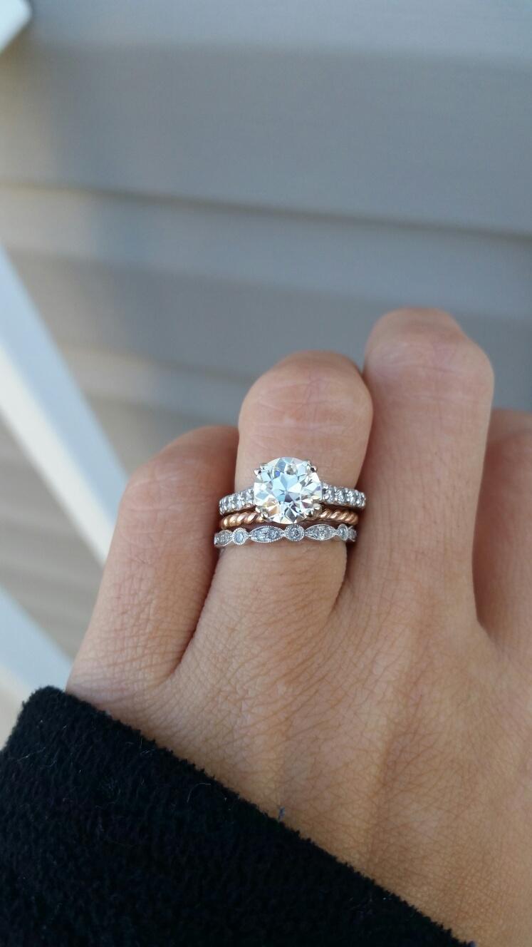 art deco wedding bands art deco wedding ring Show me your wedding bandWeddingbee
