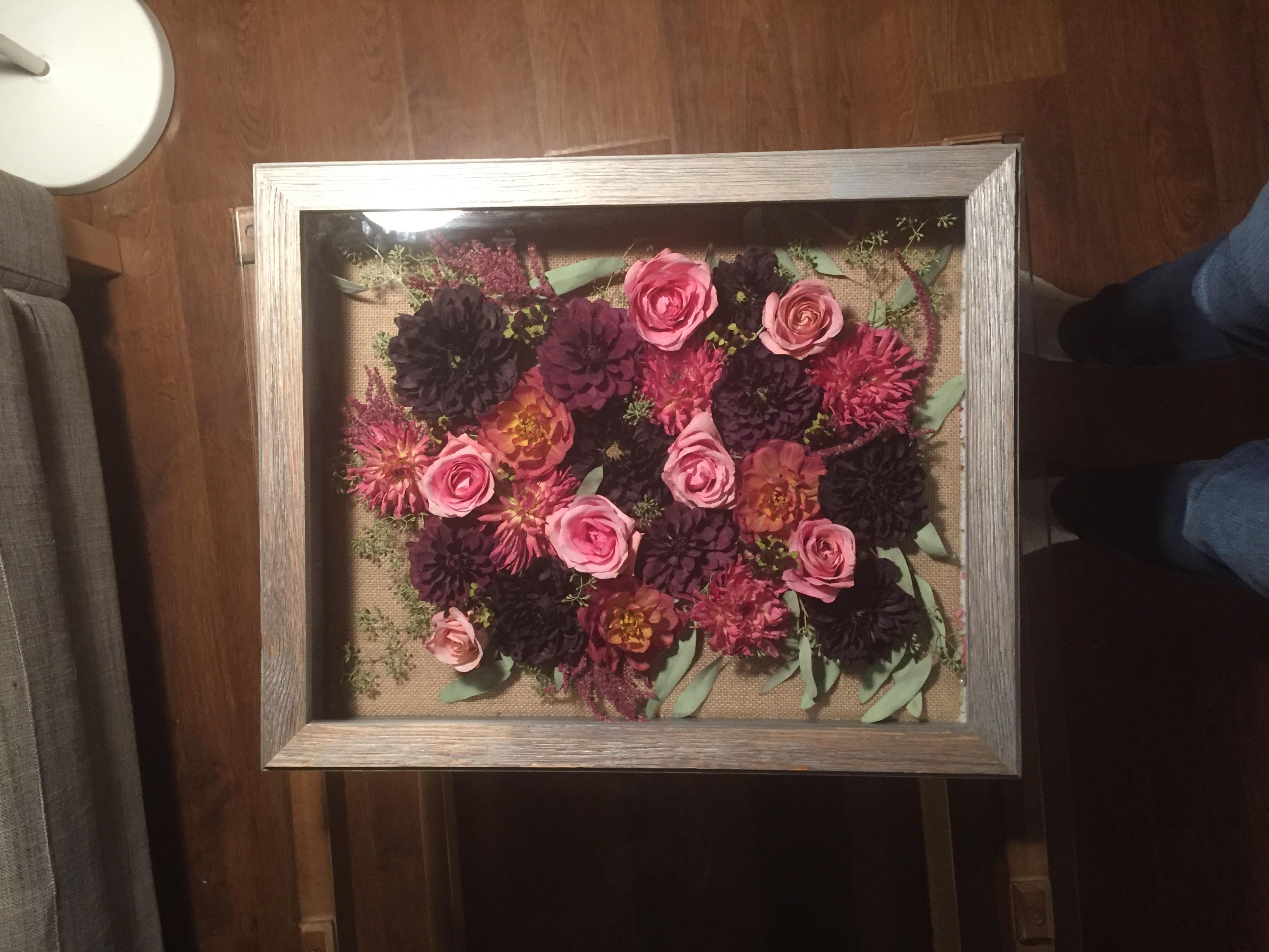 my diy dried wedding bouquet shadow box wedding shadow box Post 2