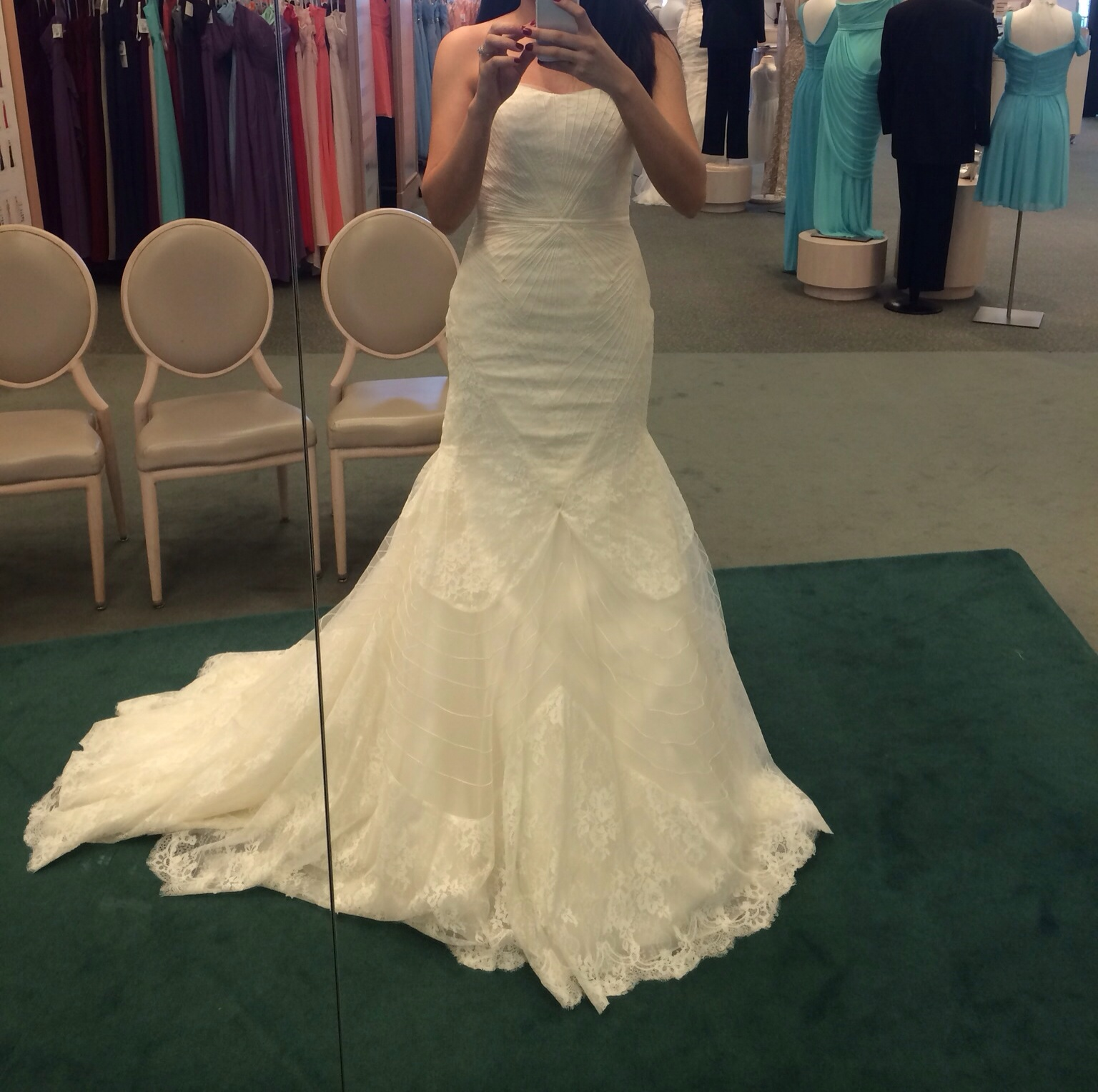 anyone tried on davids bridal truly zac posen dresses zac posen wedding dresses I really liked it It was comfy Im a size 6 and it fitted almost perfectly