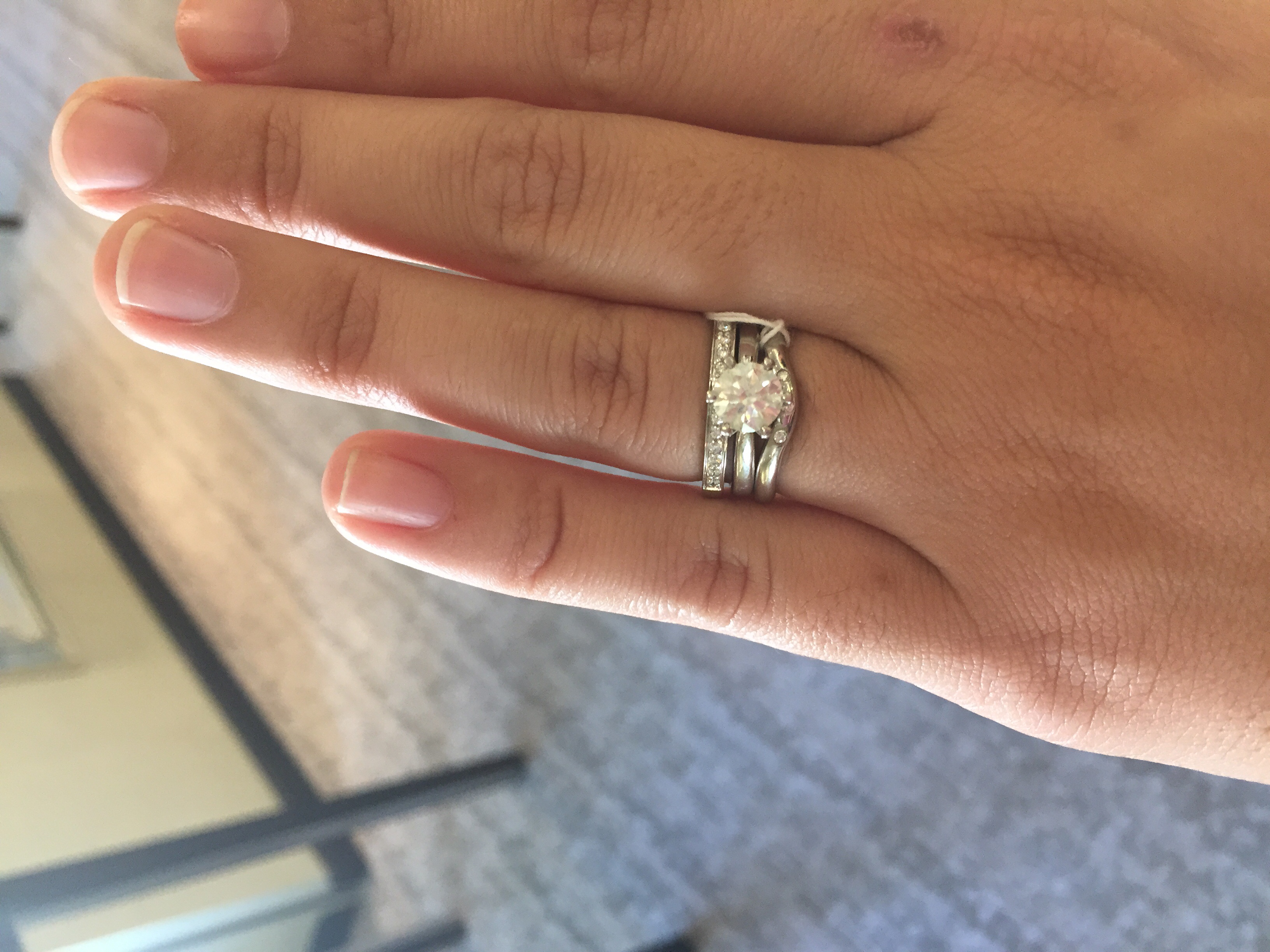 solitaire ering w different wedding rings picture heavy different wedding rings hI everyone so i have been looking for a wedding ring s for months and have tried on so many so I thought I d post incase someone is also looking please