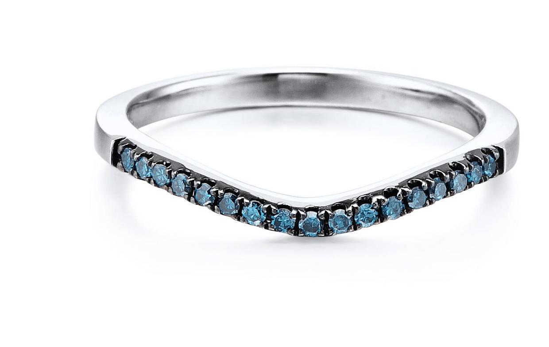 blue diamond wedding band contour diamond wedding band Tagged wedding ring