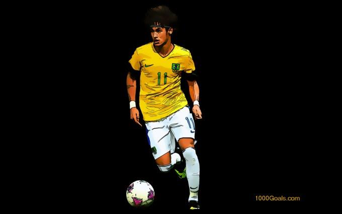 Neymar Da Silva Santos Junior Brazil Wallpaper 1000 Goals