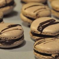 Makroner med sjokolade