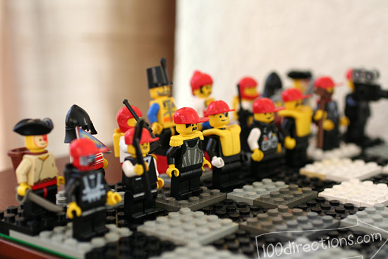 LEGO chess game red team