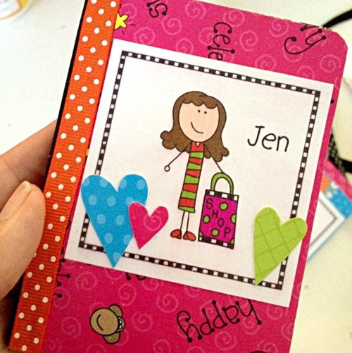 Decorate a mini notebook