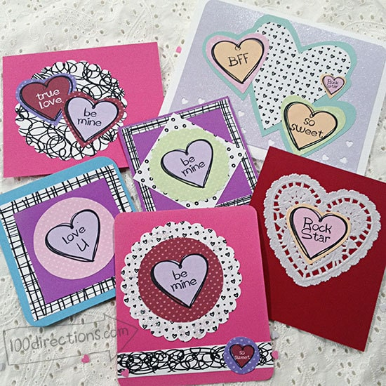 Candy Heart Valentines with Jen Goode art doodles