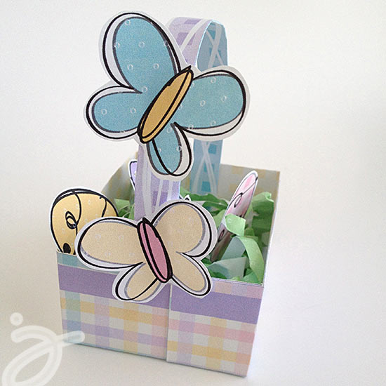 Spring butterflies to accent your mini Easter Basket