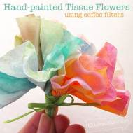 Make a Hand-painted Tissue Flower
