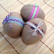 Decorate Easter Eggs with Washi Tape and Twine