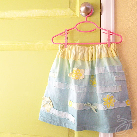 Cute t-shirt skirt with Cricut Iron-on accents