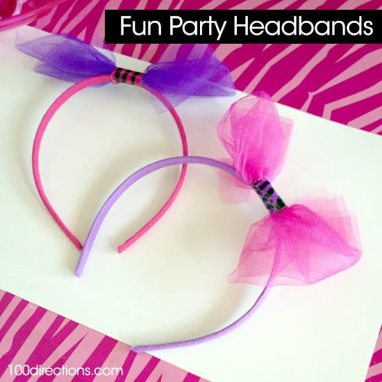 Make your own party headband